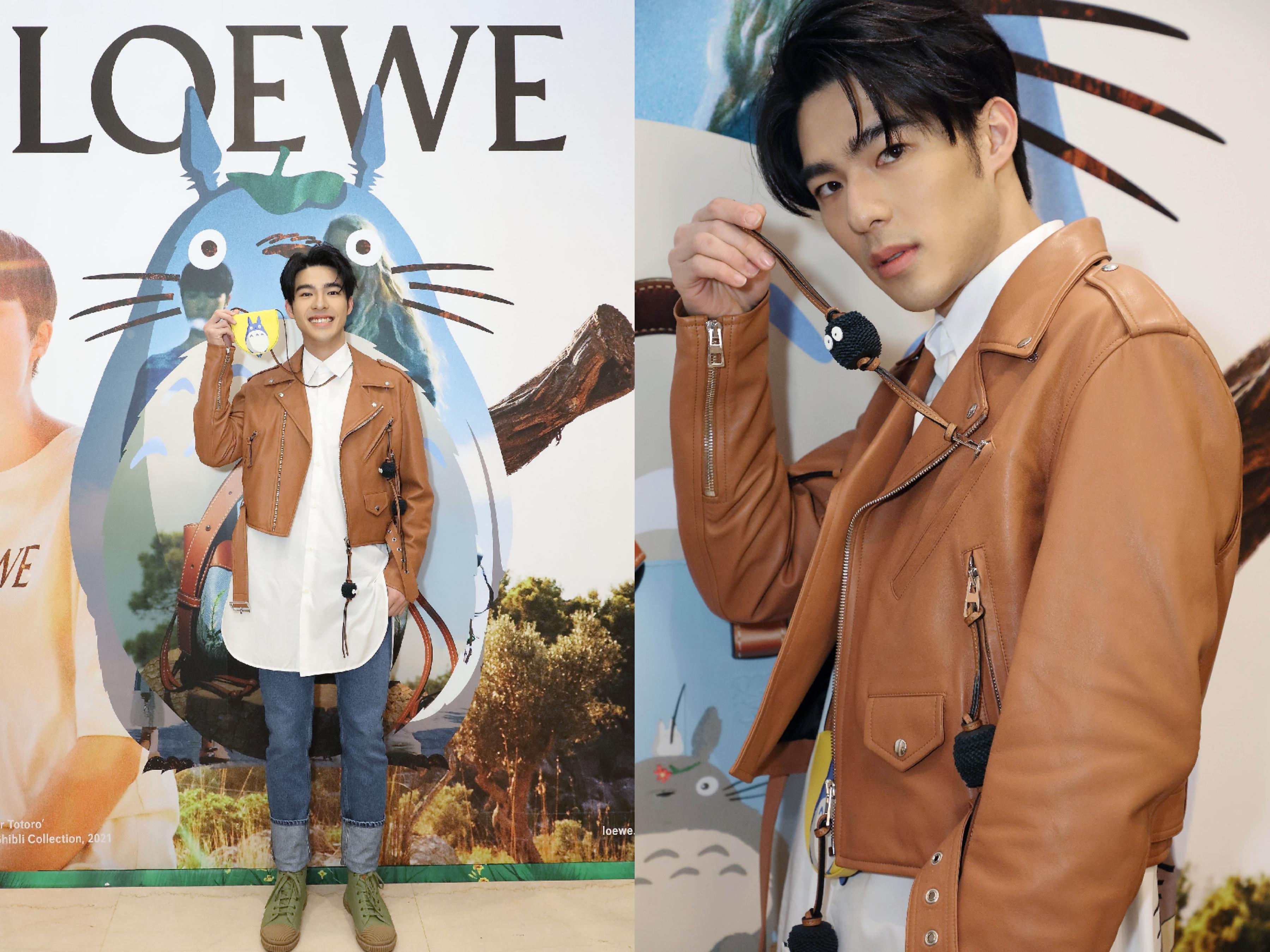 新生代演員陳昊森出席LOEWE x My Neighbor Totoro的快閃店開幕活動。
