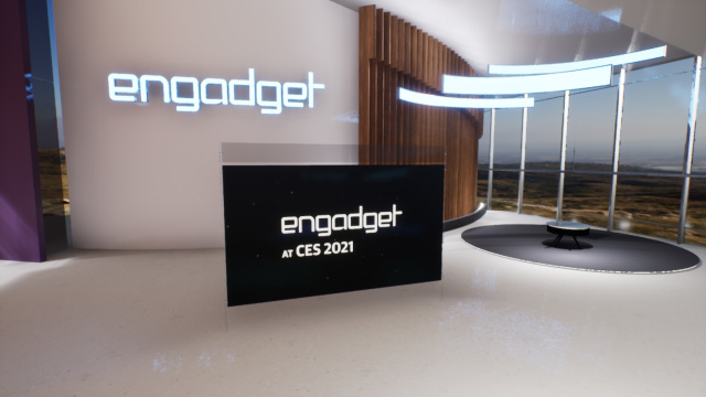 Engadget virtual CES stage