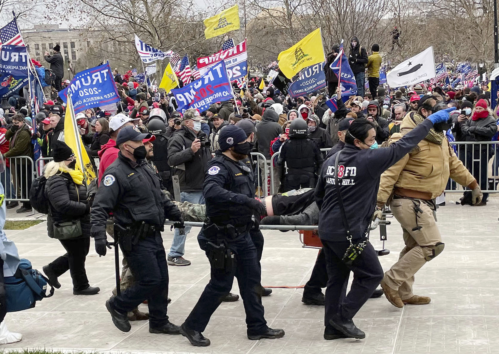 """Another Capitol Police Officer has died, this time by suicide, after responding to the Pro-Trump riot at the Capitol Building in Washington, D.C.. STAR MAX File Photo: 1/6/21 The United States Capitol Building in Washington, D.C. was breached by thousands of protesters during a """"Stop The Steal"""" rally in support of President Donald Trump during the worldwide coronavirus pandemic. The demonstrators were protesting the results of the 2020 United States presidential election where Donald Trump was defeated by Joe Biden. While there was a significant police presence attempting to keep the peace - including law enforcement officers and agents from The U.S. Capitol Police, The Virginia State Police, The Metropolitan Police of The District of Columbia, The National Guard, and The FBI - demonstrators used chemical irritants to breach the interior of The Capitol Building. This, while the Democratic Party gained control of The United States Senate - sweeping the Georgia Runoff Election and securing two additional seats. (Washington, D.C.)"""