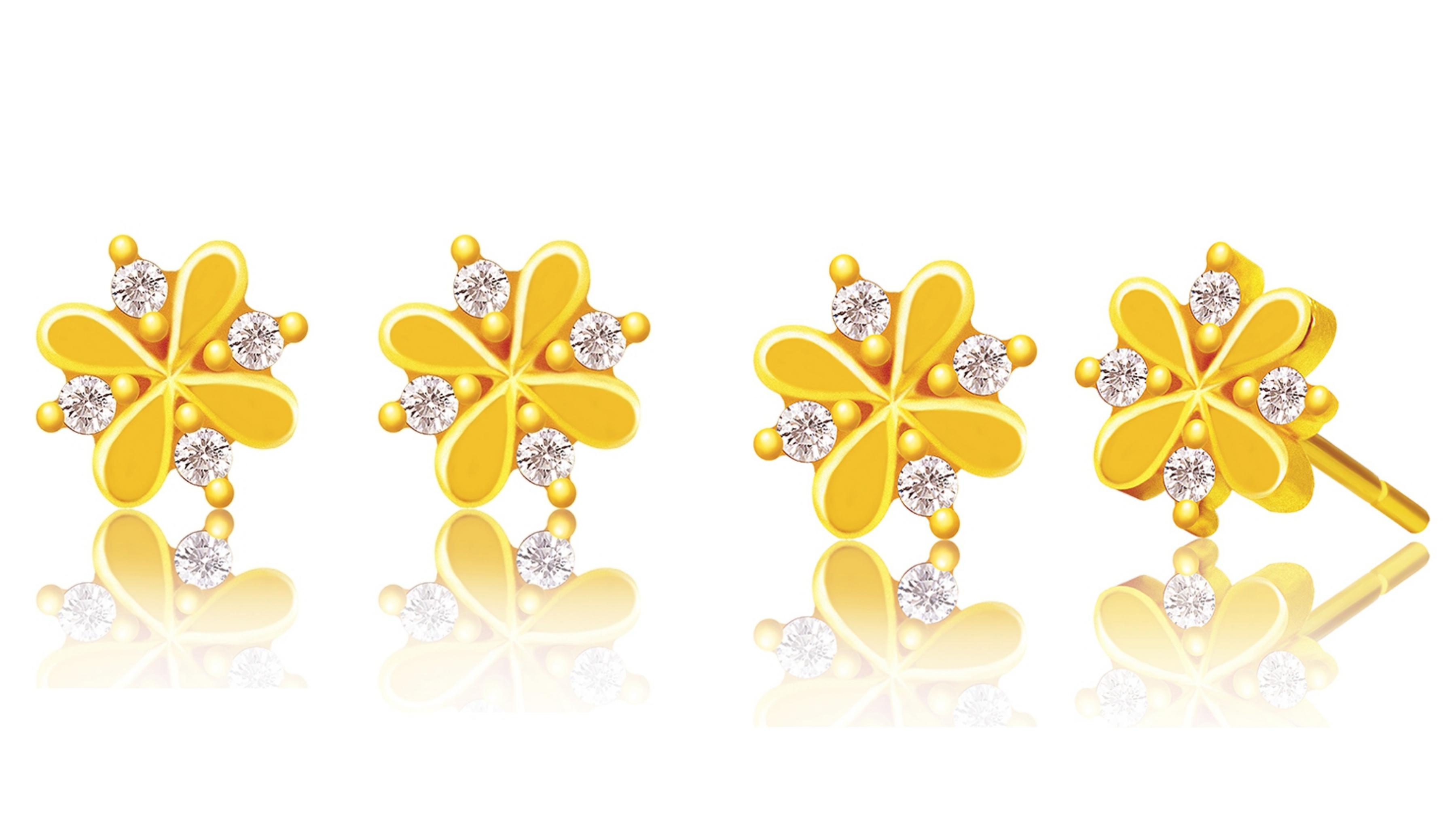 今生金飾 光耀耳環 黃金耳環 (網路獨賣) 設計師款999.9黃金耳環,優雅迷人的設計,經典的魅力造型
