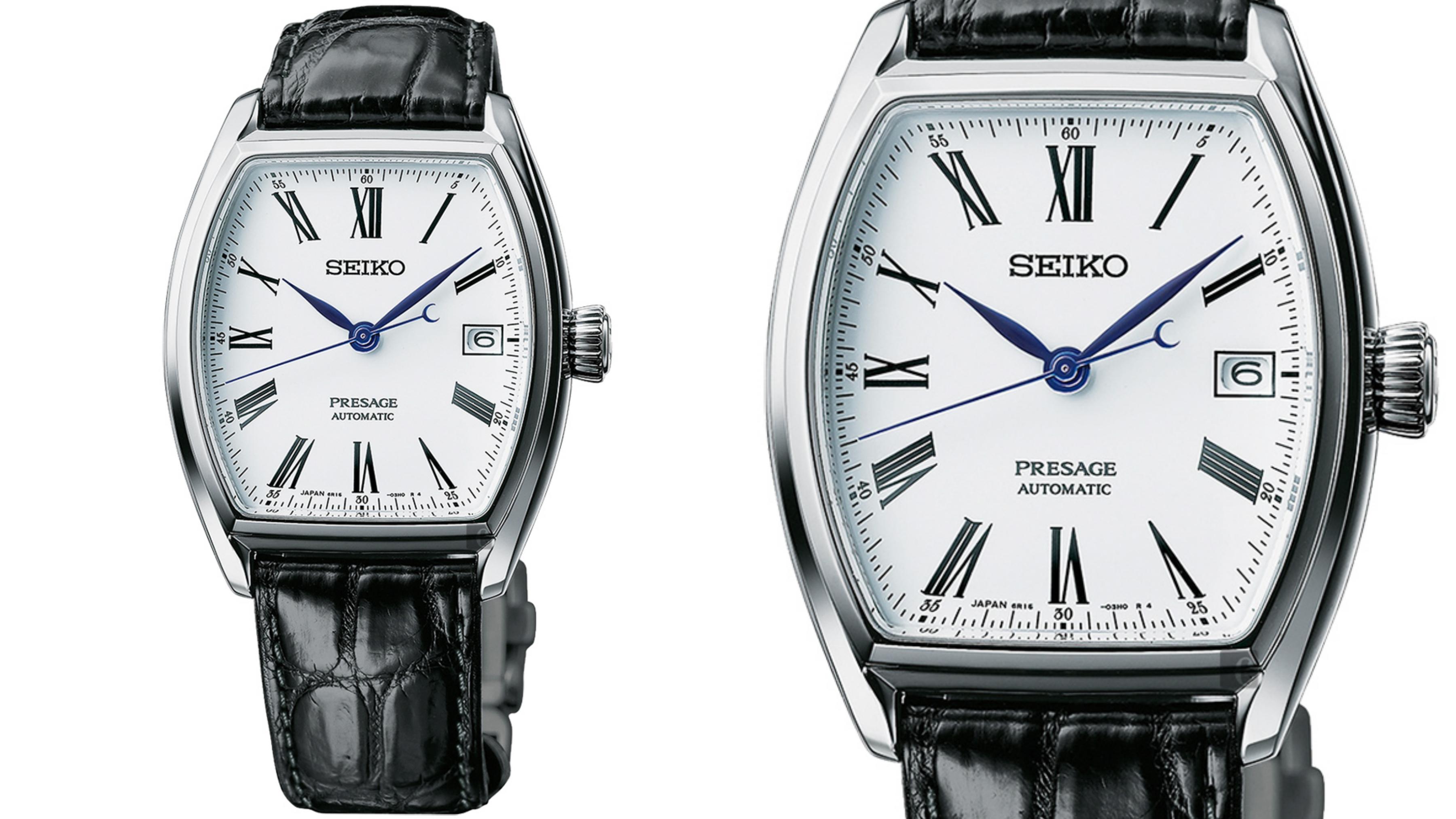 SEIKO精工 半澤直樹配帶 Presage 琺瑯機械錶(SPB049J1/6R15-03T0S) 鱷魚皮錶帶,展現迷人時髦的腕間風情