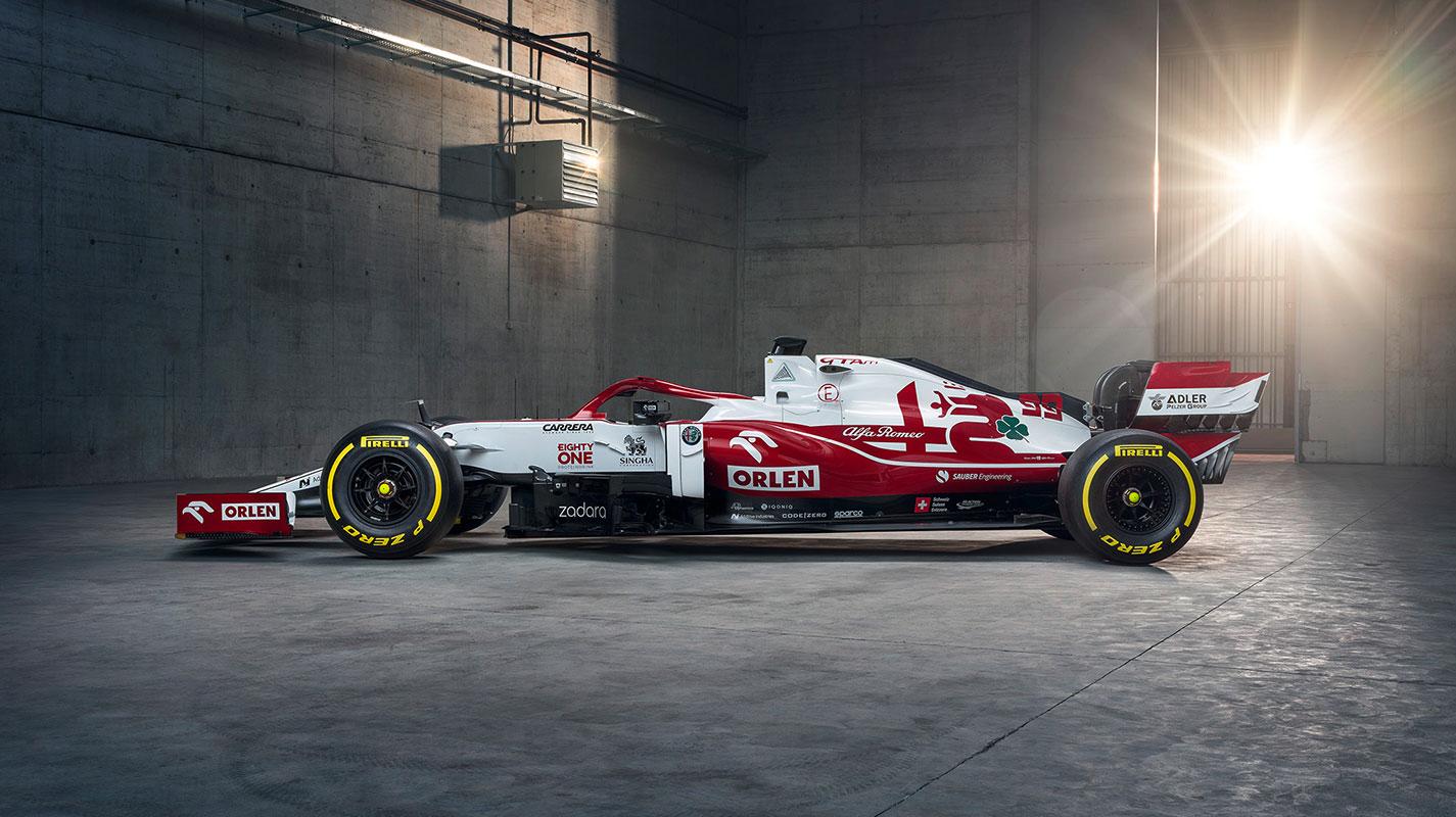Alfa Romeo車隊2021年F1新賽車C41露面