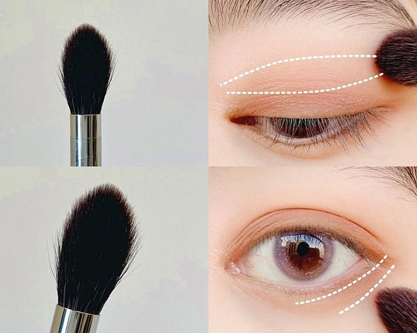 化妝師傳授眼影刷使用技巧