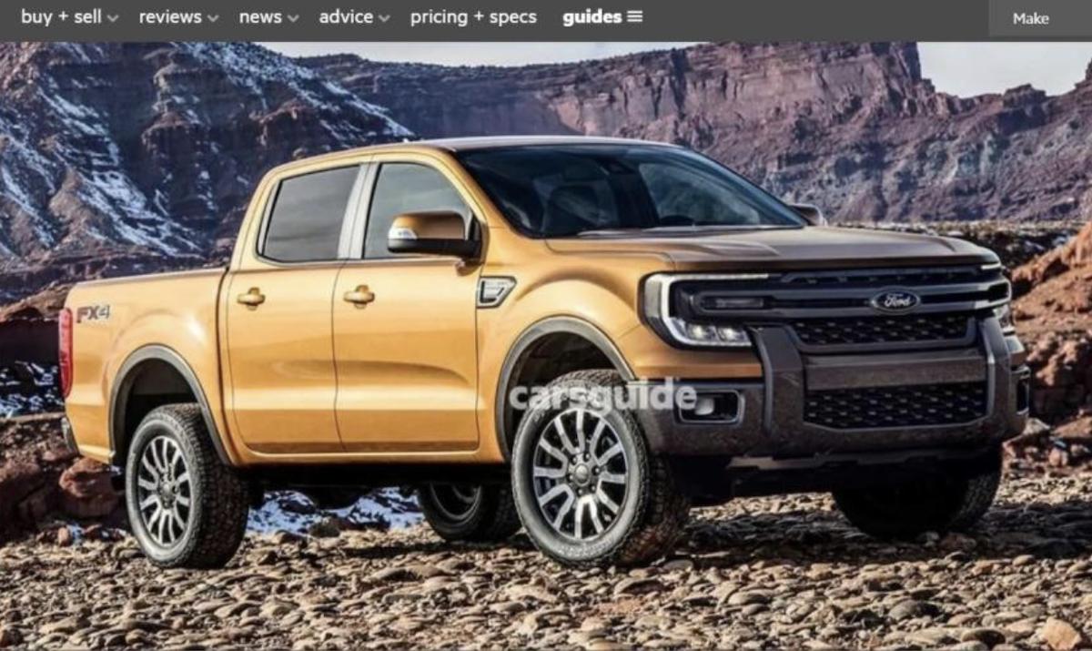 外媒先前釋出新一代 Ford Ranger 外觀預想圖。(圖翻攝自Kolesa.ru)