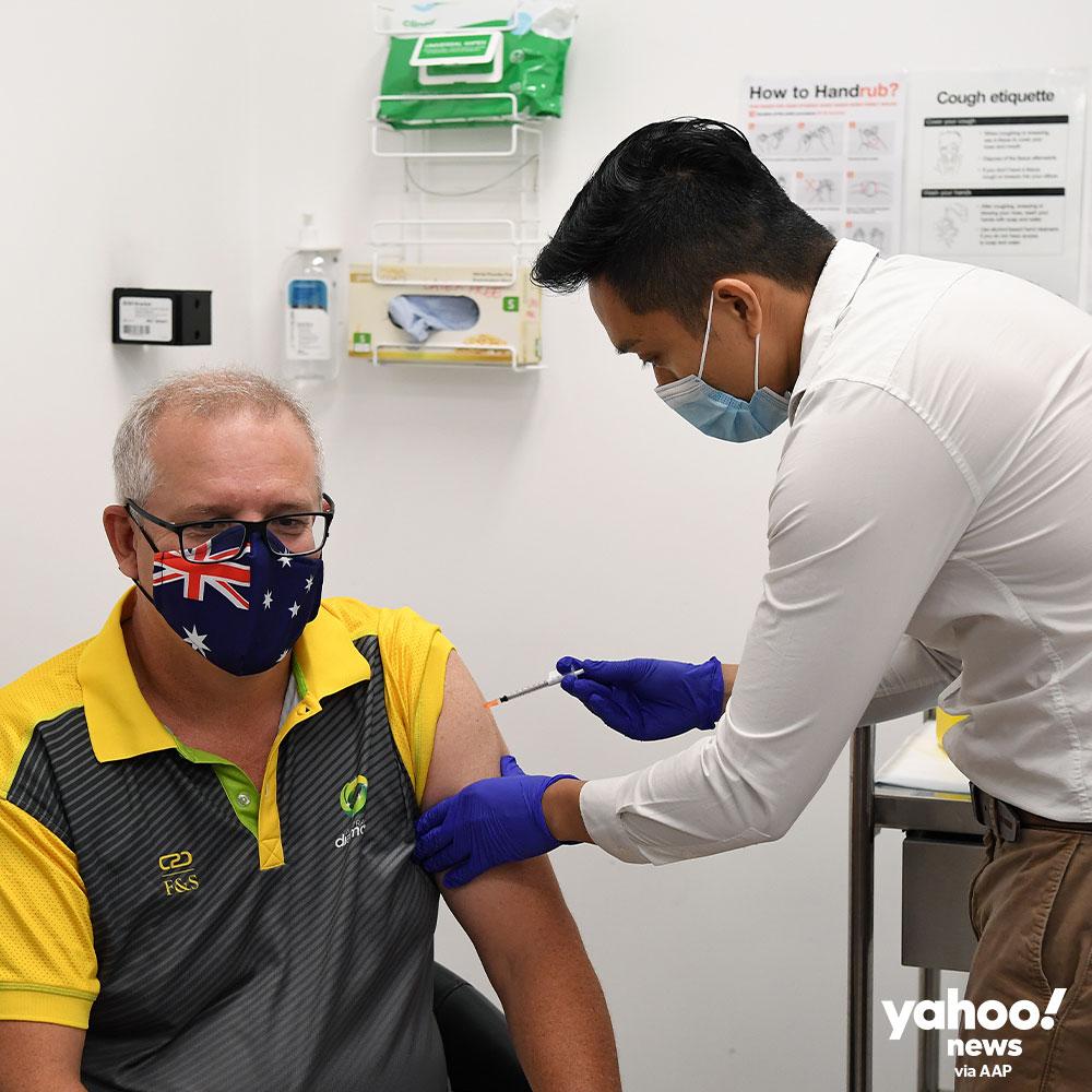 Australian Prime Minister receives Covid-19 vaccination