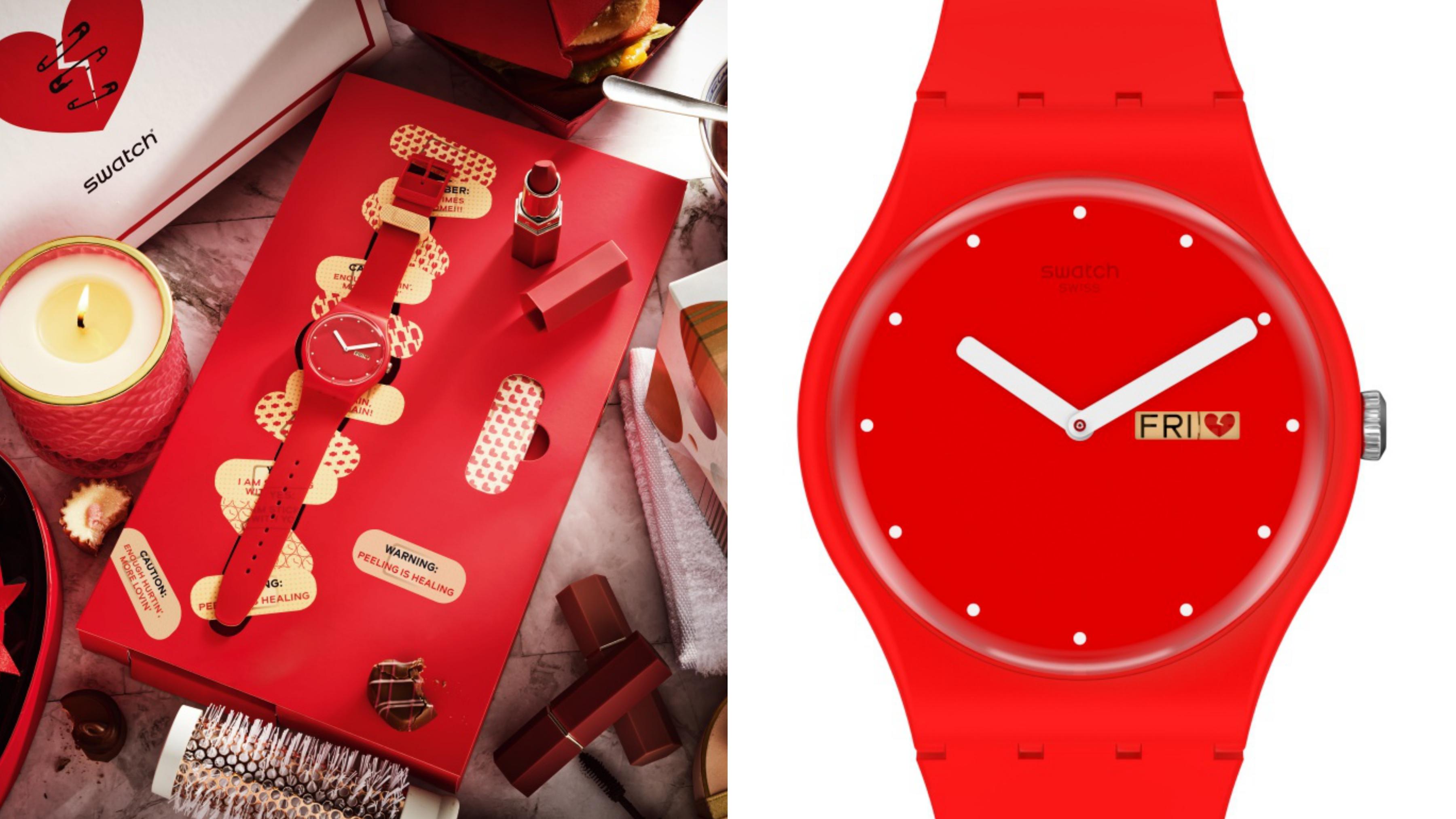 搭配急救箱特殊包裝的錶盒,一個人的情人節也沒關係