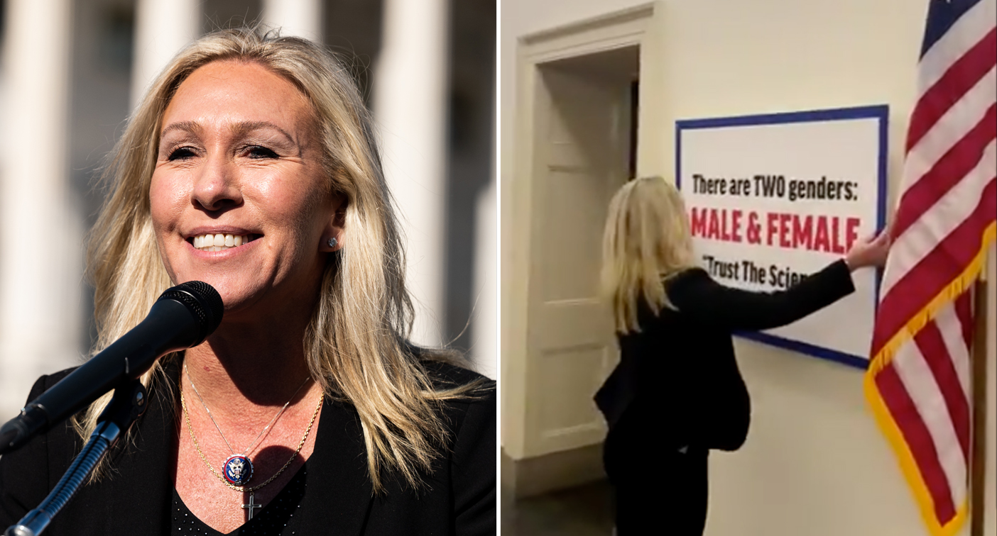 Politician hangs 'sickening' sign outside colleague's office