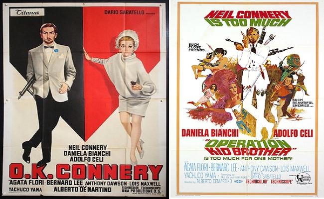 El infumable remake italiano de las películas de James Bond que protagonizó el hermano de Sean Connery