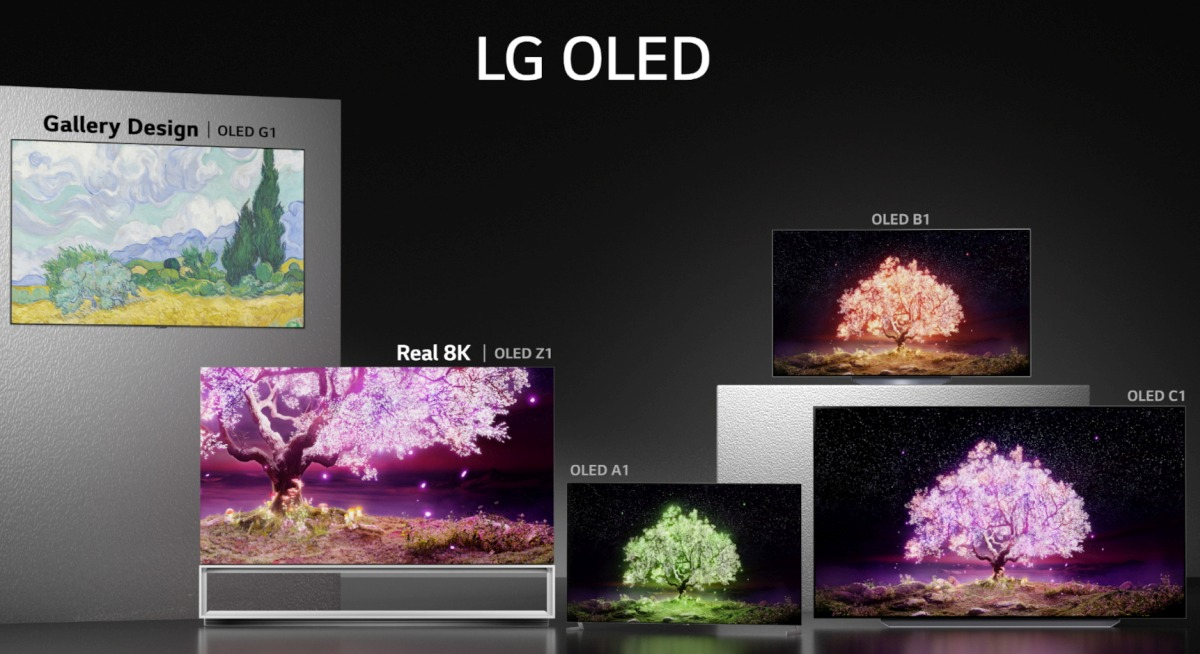 LG is slowly starting to make its 2021 OLED and LCD 4K TVs