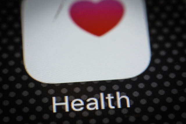 The Apple Health application is seen on a iPhone on December 1, 2017. (Photo by Jaap Arriens/NurPhoto)