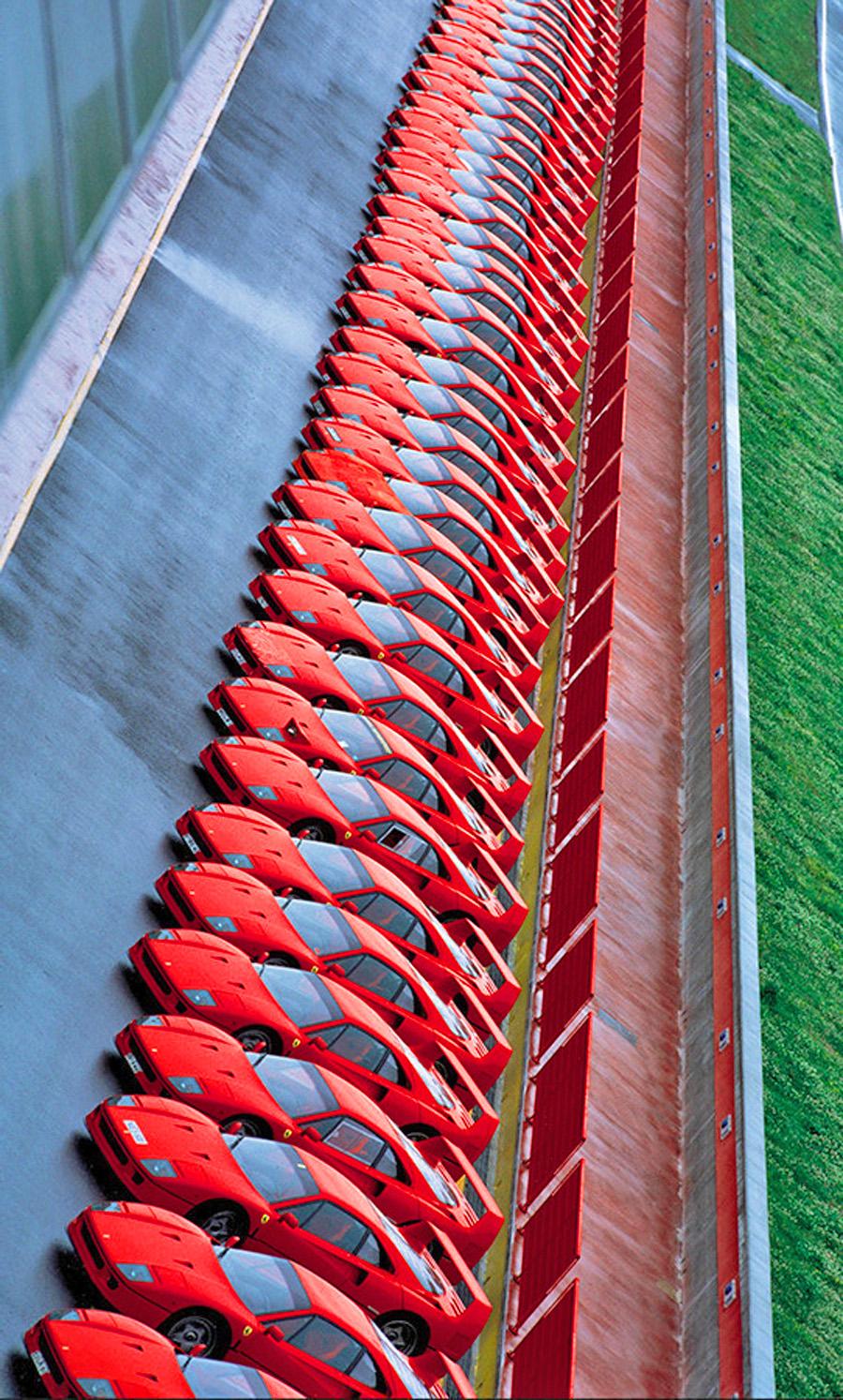 當年一望無際都是Ferrari F40,是當年非常膾炙人口的汽車活動