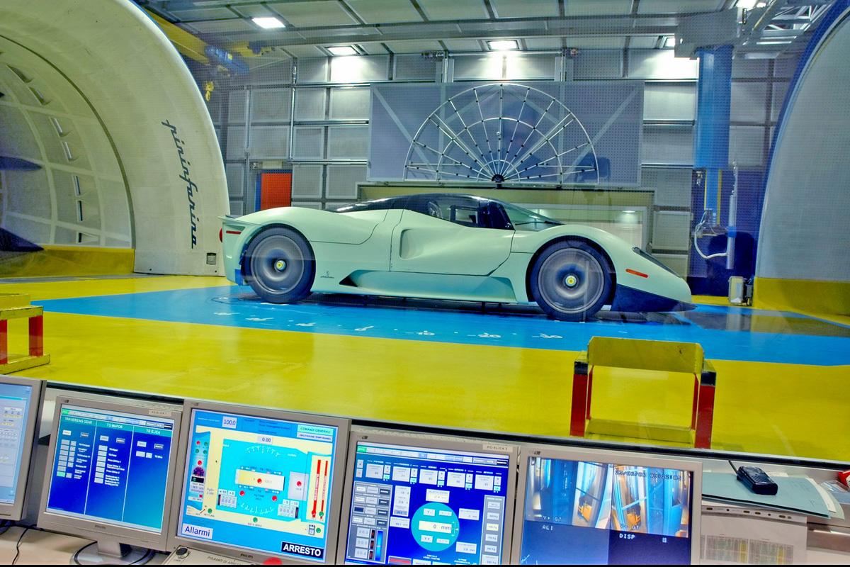 賓尼法利納的汽車風洞 ©motor1.com