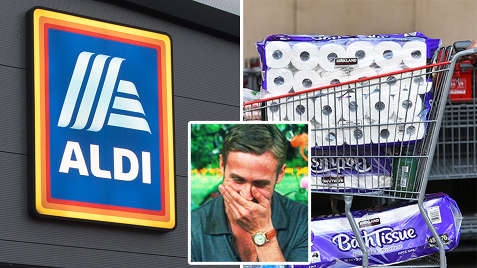 Aldi cashier 'loses it' after woman's take down of toilet roll hoarder