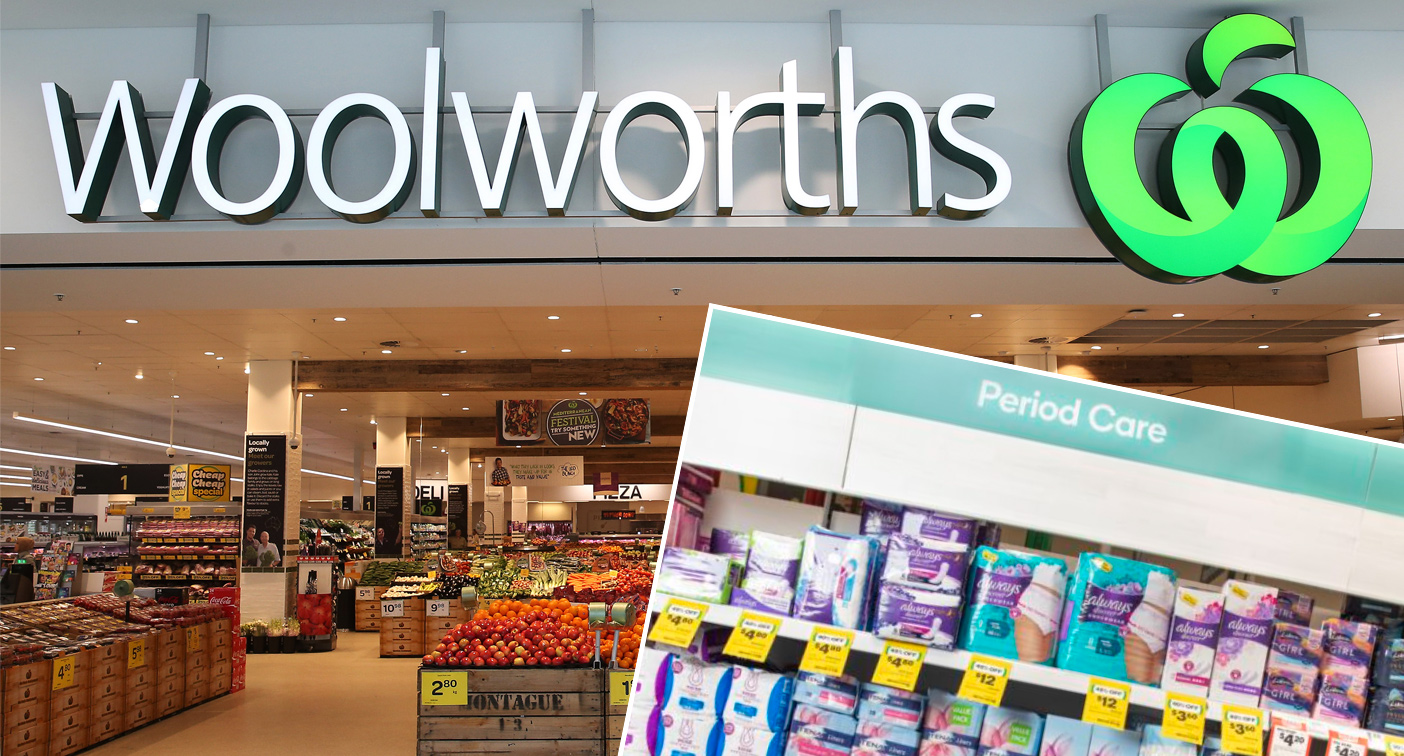 Furious debate over Woolworths' 'period aisle' change