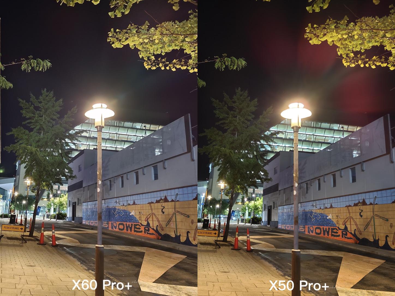 X60 Pro+ vs. X50 Pro+ flare