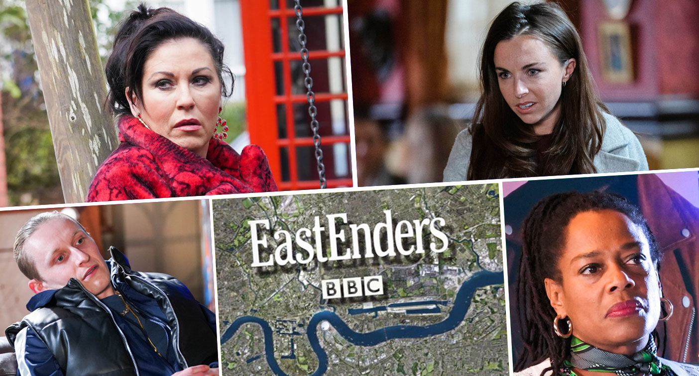 a fatal fall for Ruby Allen?  Phil Mitchell and Kat Slater hide their feelings