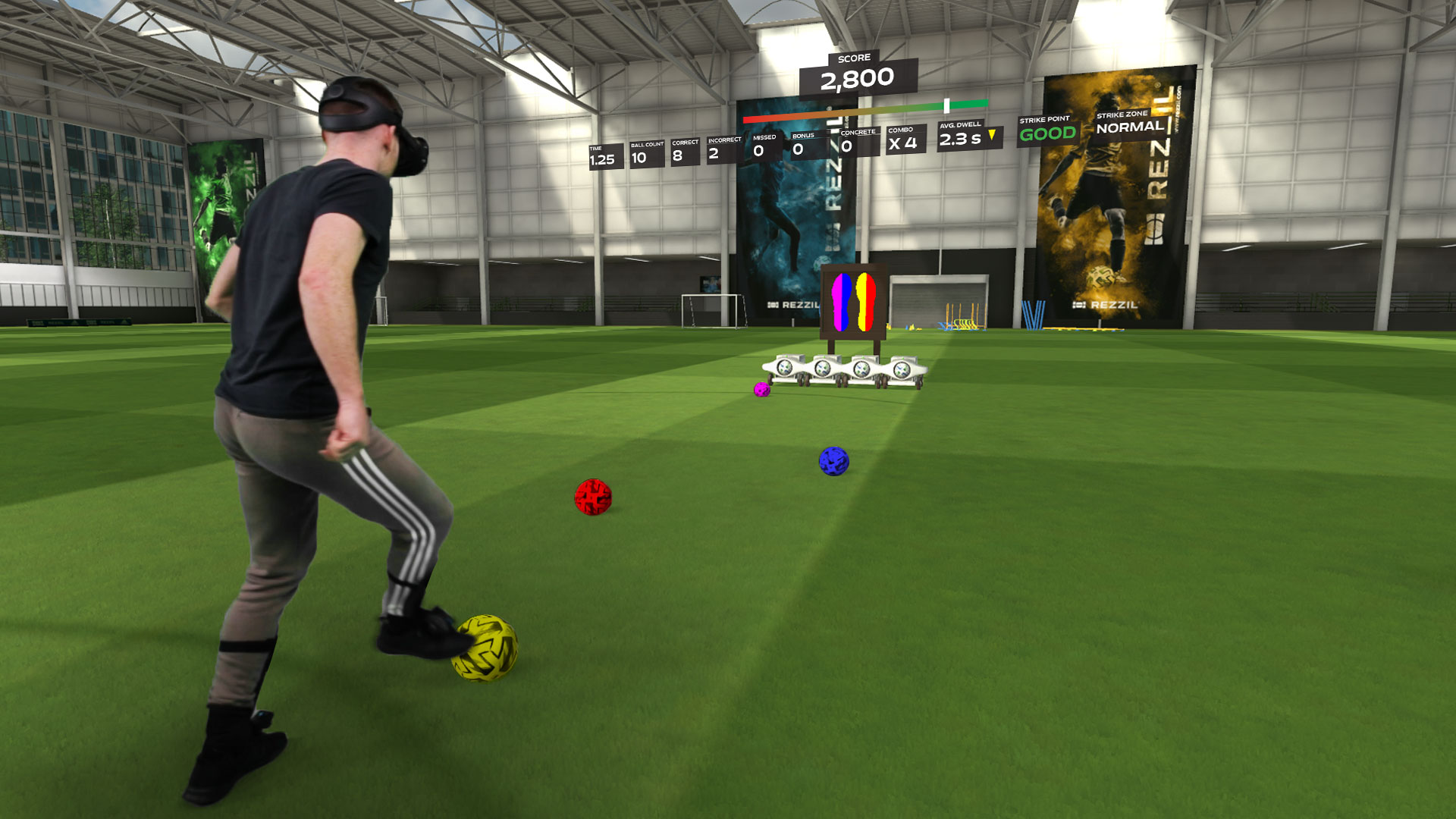 Rezzil's soccer training in VR is quite a workout   Engadget