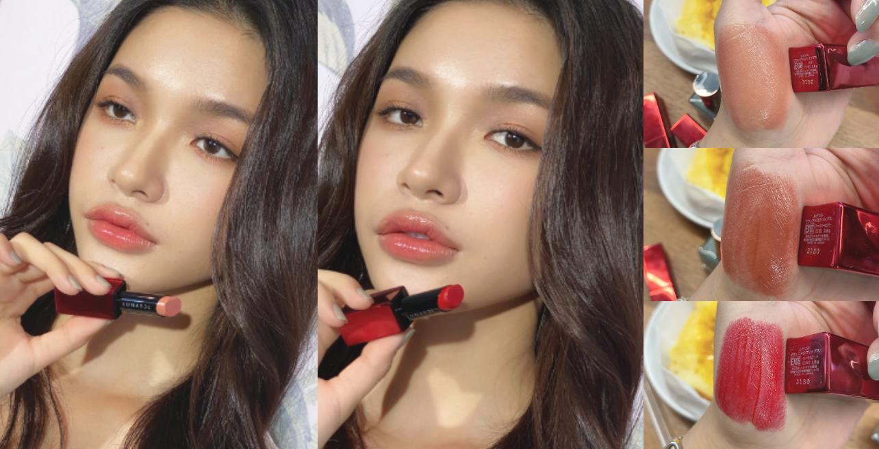 LUNASOL首次推出 #心跳紅包裝 的限定唇膏,3個顏色都超級好看,質地是一抹融化、宛如奶油般潤澤,而且顏色飽和又呈現水嫩感,富含保養成分,擦在唇上一點也不感覺乾,乾皮人絕對必備的一款戀愛唇膏。EX06是亮紅色、EX07是栗子色、EX08是焦糖奶茶色,模特兒示範的是EX08為底色,最後在唇中點上EX06,整個色調超絕美!