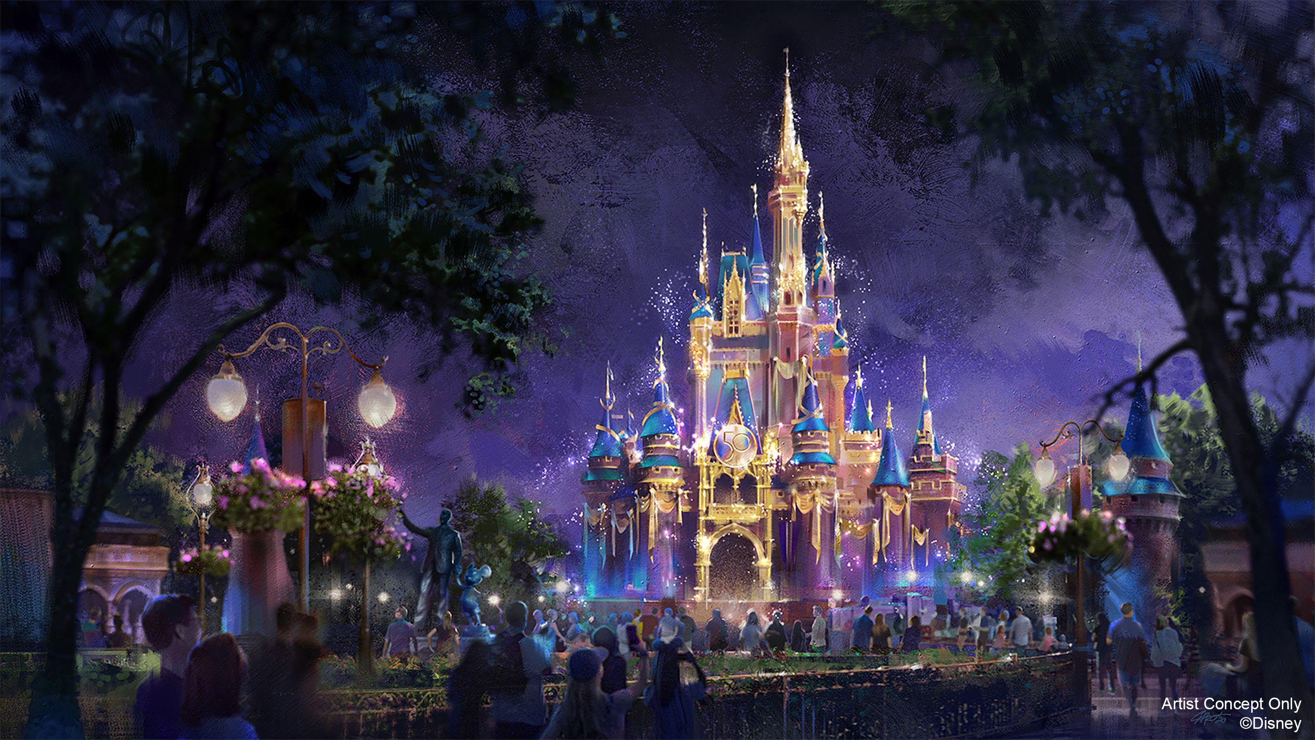 迪士尼樂園概念示意圖(圖源:Yahoo News)