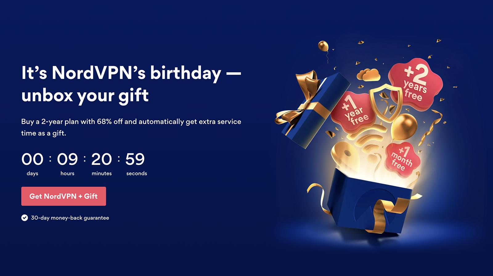 NordVPN birthday discount