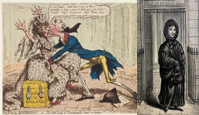 La vieja leyenda que muchos ingleses explican sobre el fantasma del Banco de Inglaterra