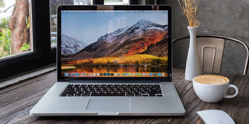 Stock image of an Apple laptop.