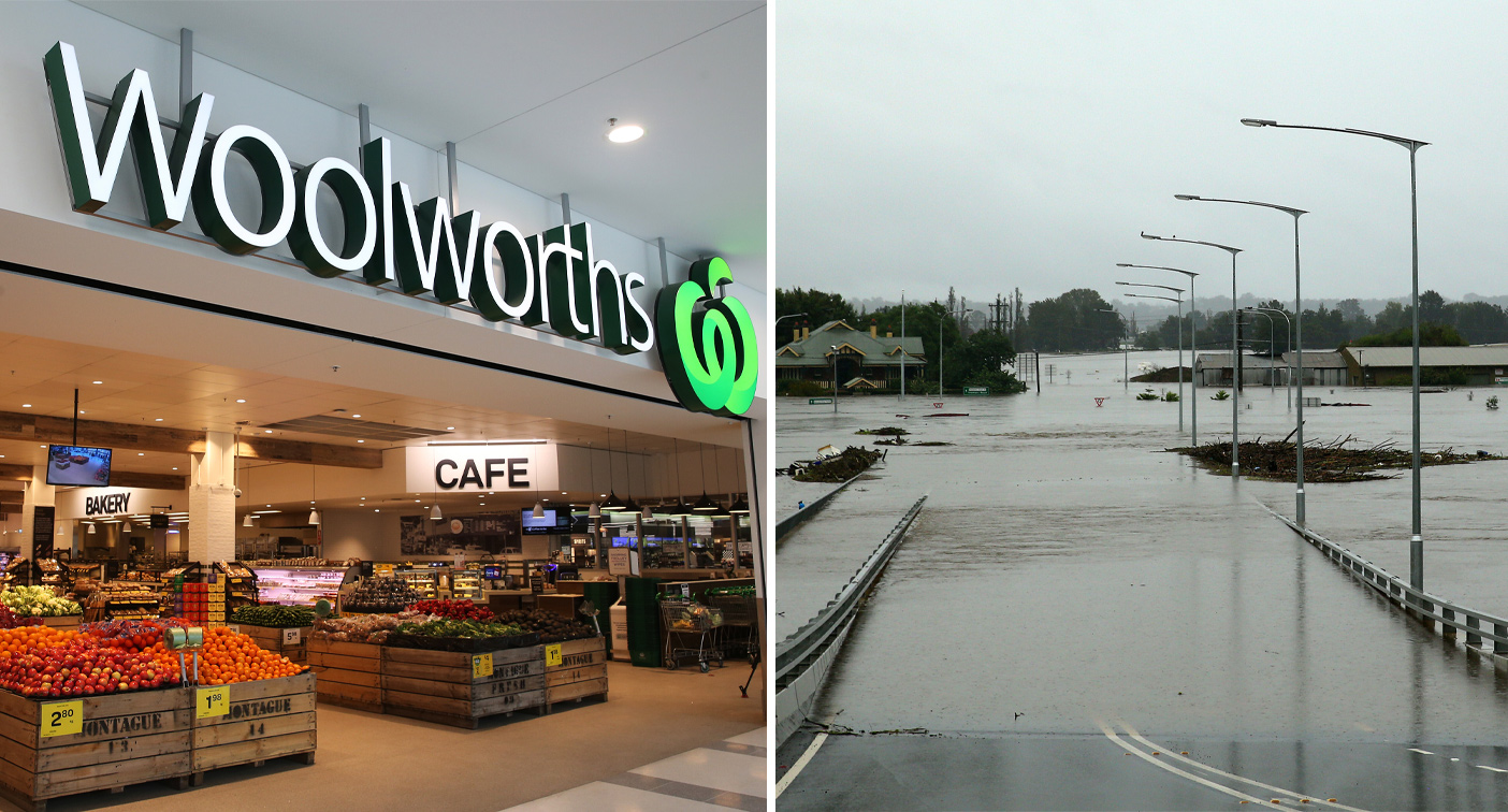 Woolworths' new checkout option to support flood-hit customers