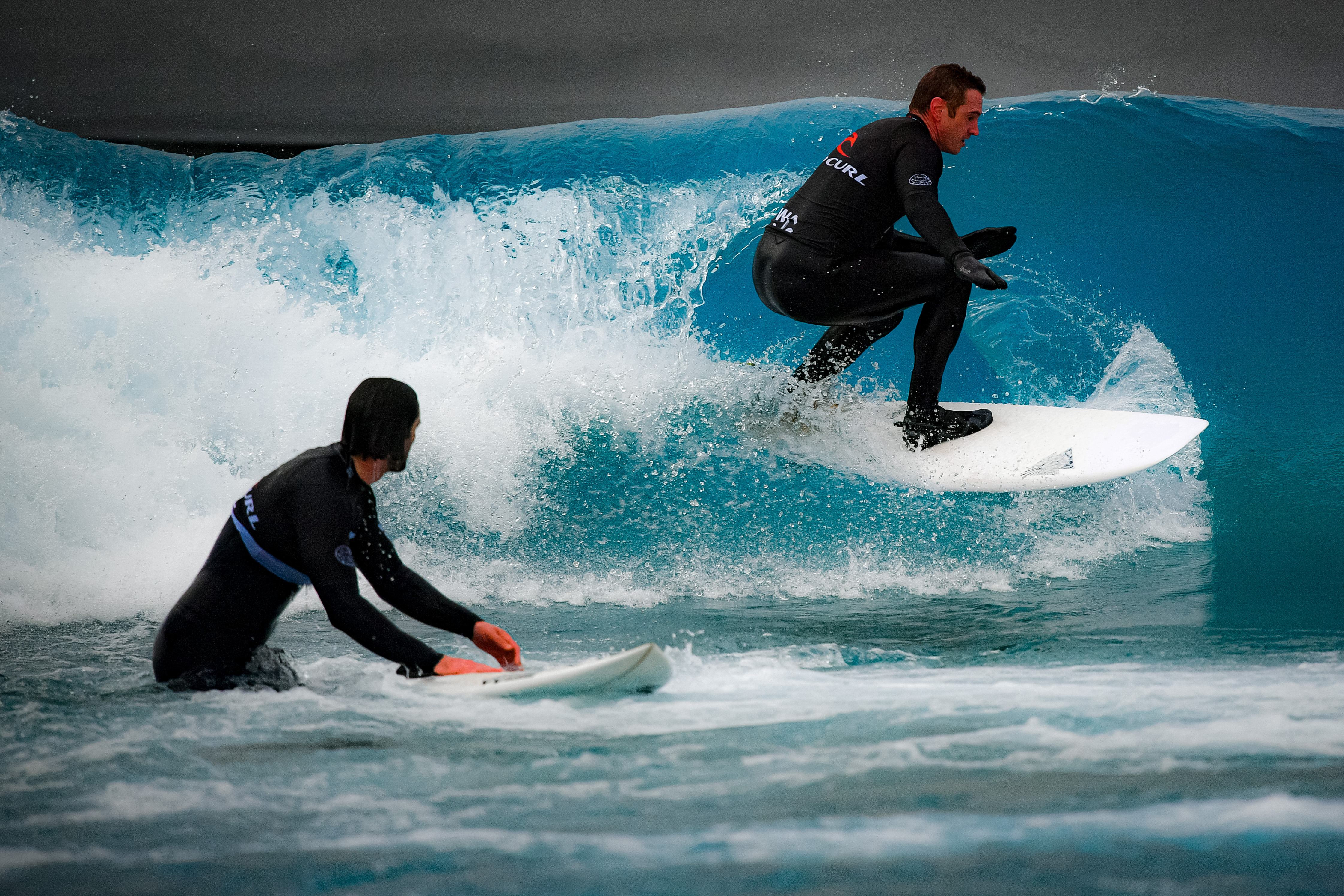 <p>People surfing at The Wave in Bristol following the easing of England's lockdown to allow far greater freedom outdoors. Picture date: Monday March 29, 2021. (Photo by Ben Birchall/PA Images via Getty Images)</p>