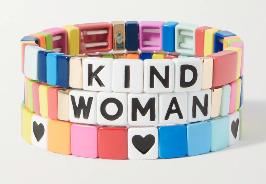 set of three Roxanne Assoulin bracelets from Net-A-Porter's International Women's Day edit