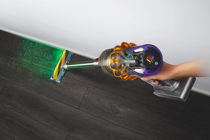 Dyson's V15 Detect vacuum hunts dust with a laser 'blade'