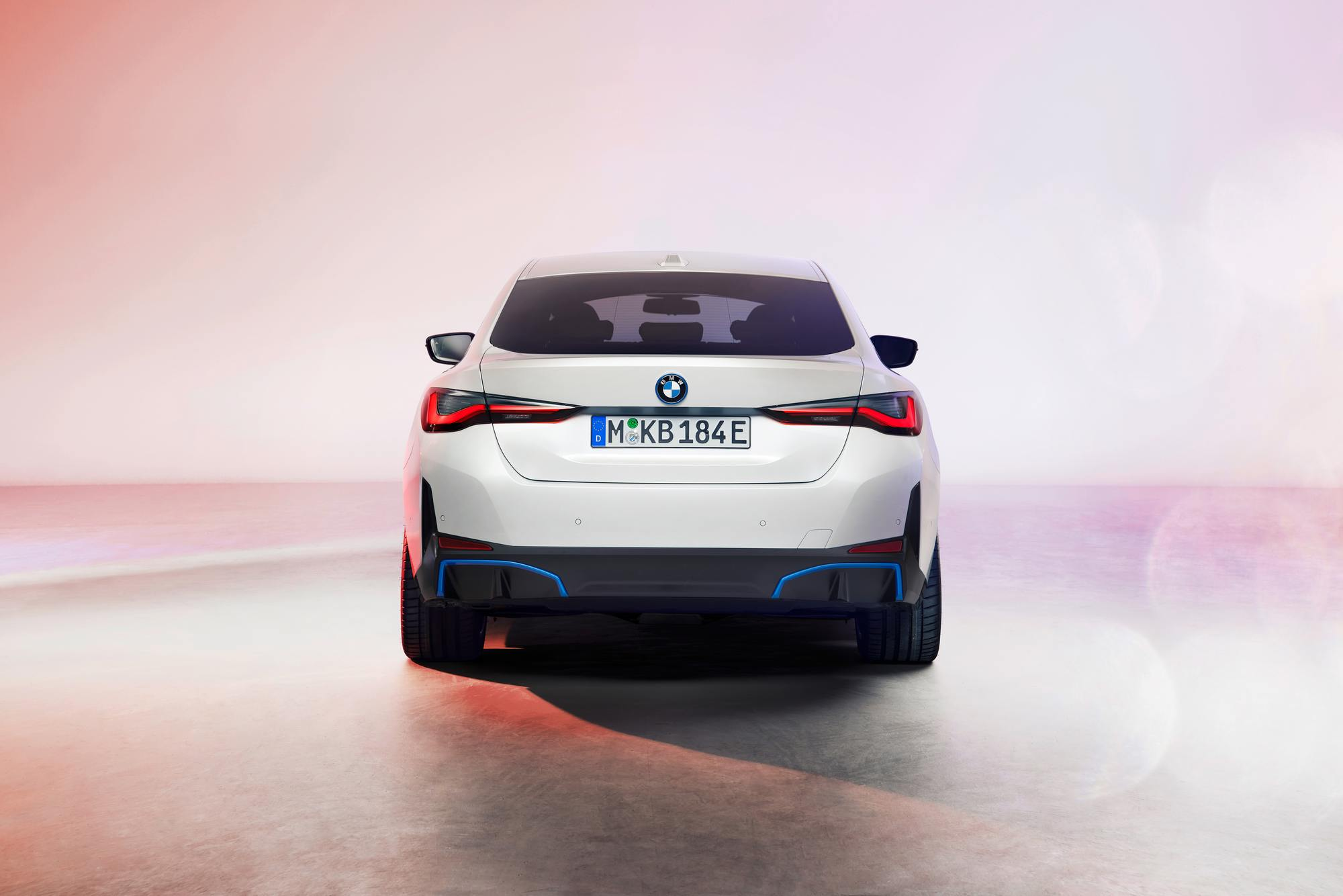 <p>BMW shows off its production i4 electric sedan for the first time</p>