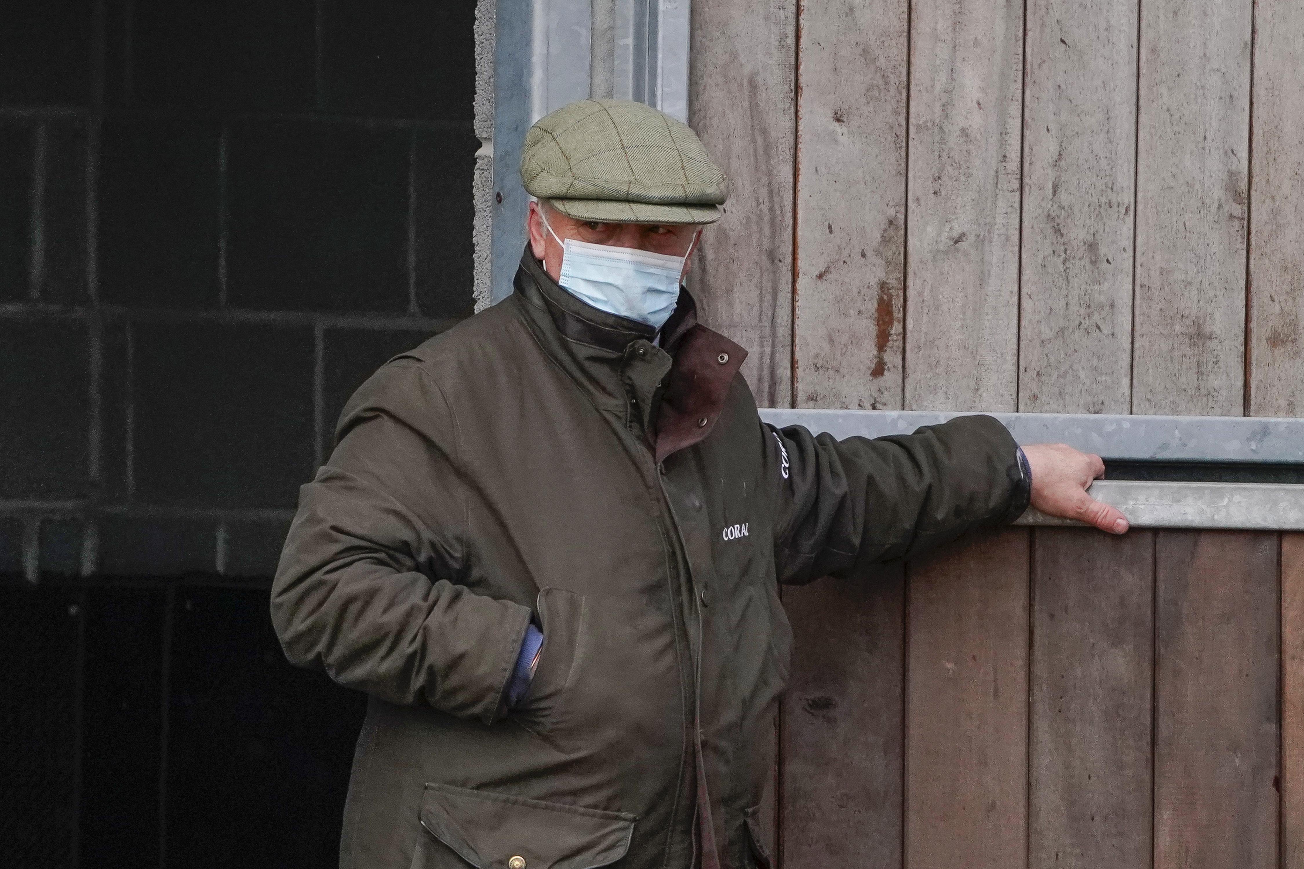 <p>Trainer Colin Tizzard at Wincanton Racecourse. Picture date: Thursday March 11, 2021.</p>