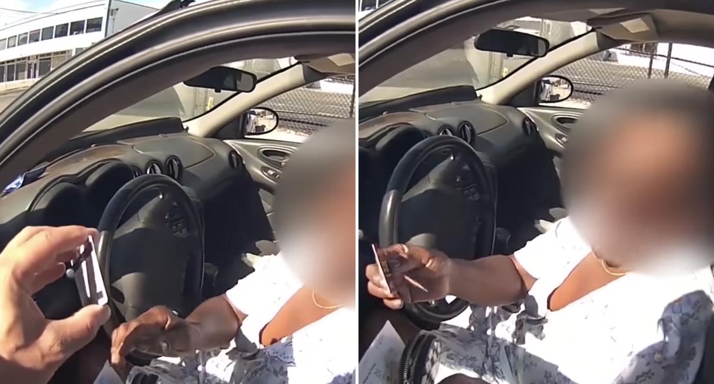 Police officer's surprising reaction over driver's broken tail lights