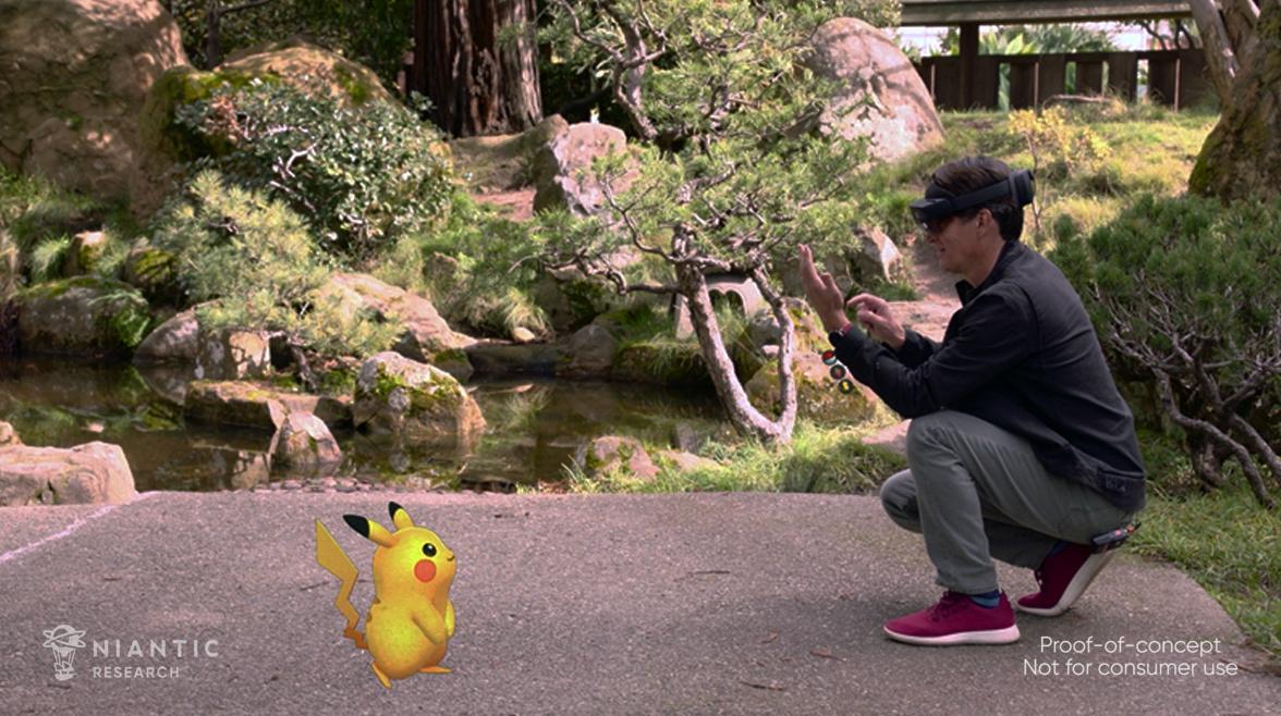神奇寶貝Go HoloLens 2概念演示