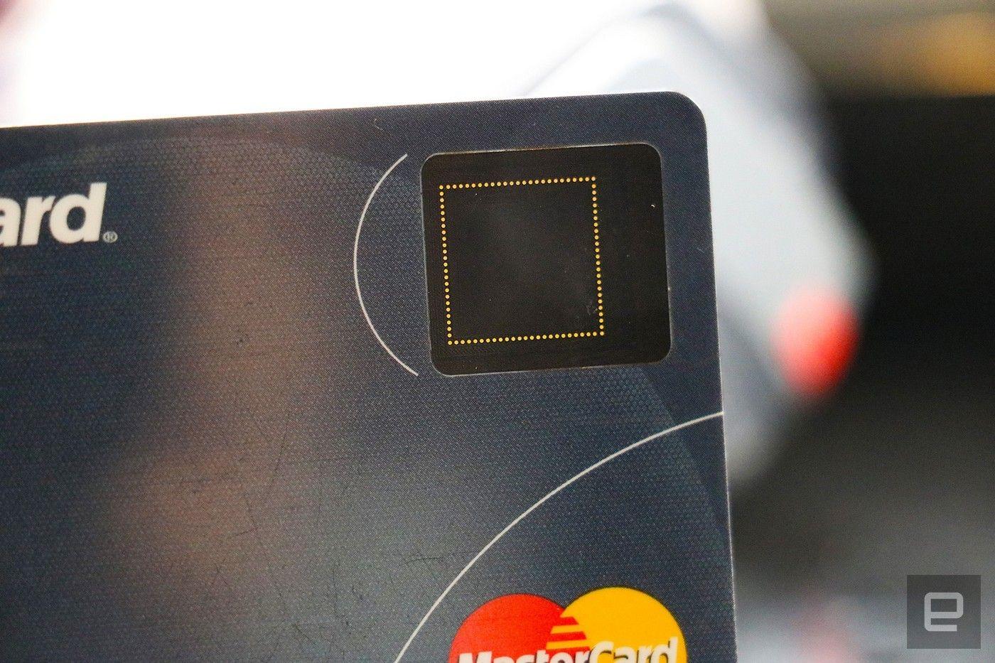 Mastercard with fingerprint reader