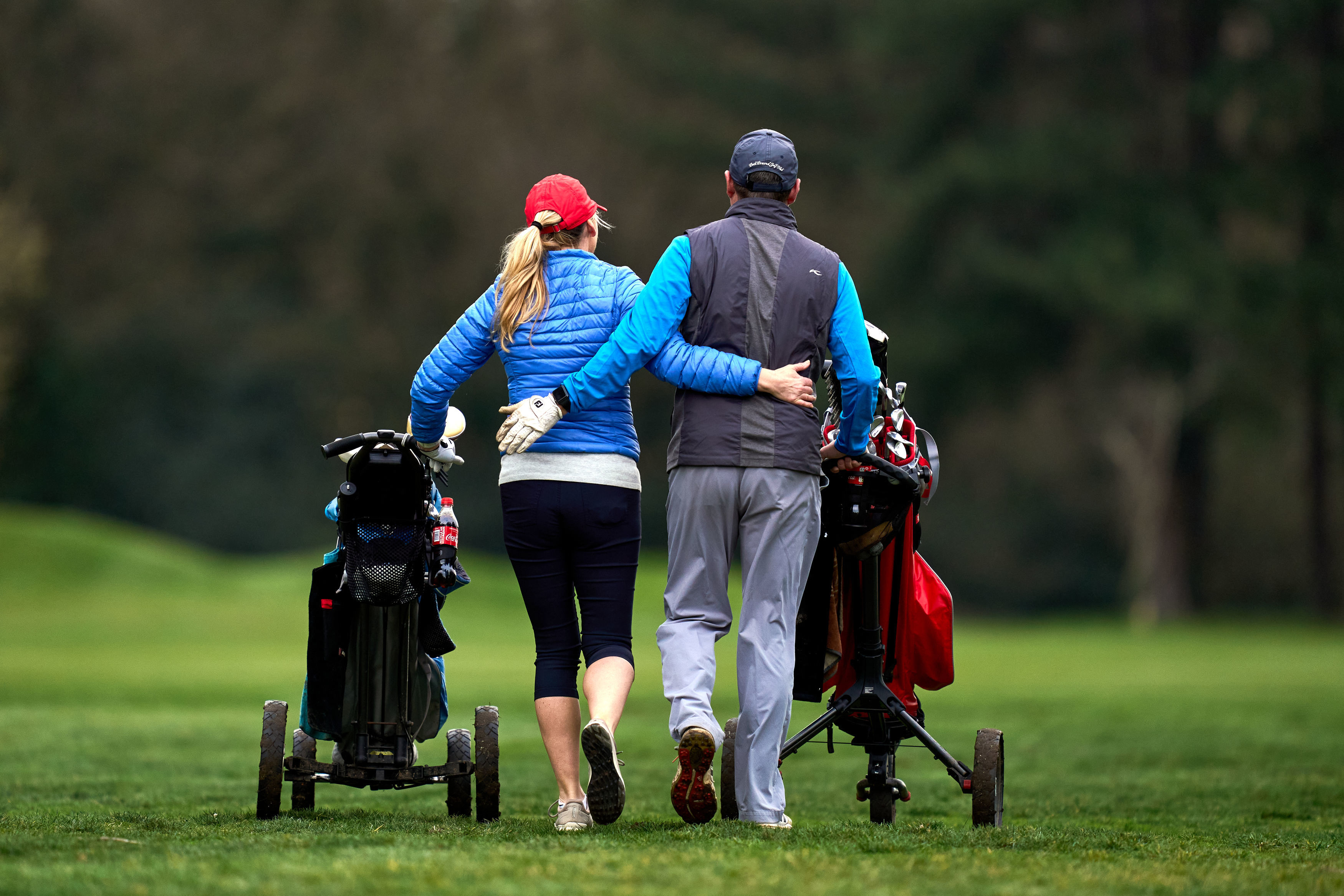 <p>Golfers at Royal Mid-Surrey Golf Club, Richmond, following the easing of England's lockdown to allow far greater freedom outdoors. Picture date: Monday March 29, 2021.</p>