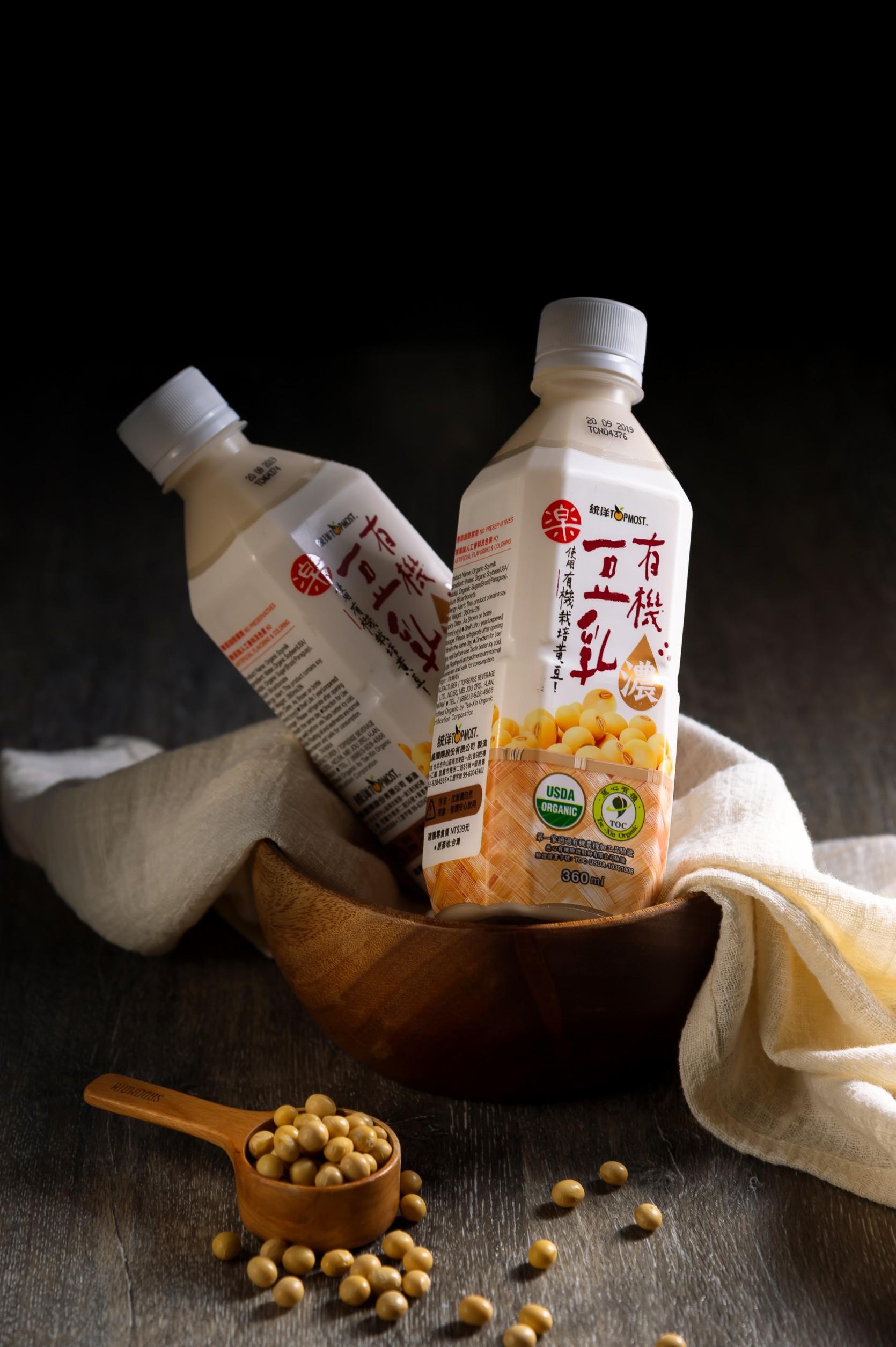 健康、有機、天然、環保 統洋有機全豆豆奶全豆使用、營養滿分