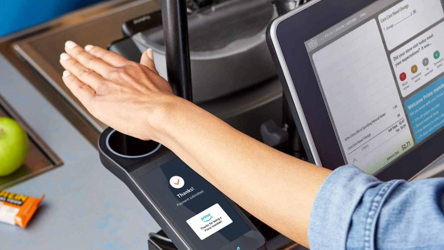 Amazon is bringing its palm-reading payment tech to Whole Foods stores