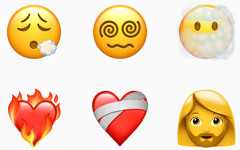 iOS 14.5 帶來令人興奮不已的更新,現在用戶可為情侶親吻或情侶心形表情符號選擇不同膚色。其他表情符號包括嘆氣的人面、頭暈轉轉眼、被煙遮着的人面、燃燒的心、鬍鬚女等等。