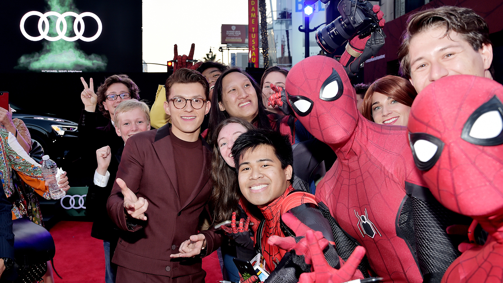 LOS ANGELES, CALIFORNIA - JUNE 26: Tom Holland attends the World Premiere of 'Spider-Man: Far From Home' hosted by Audi at the TCL Chinese Theatre on June 26, 2019 in Hollywood, California. (Photo by Stefanie Keenan/Getty Images for Audi)