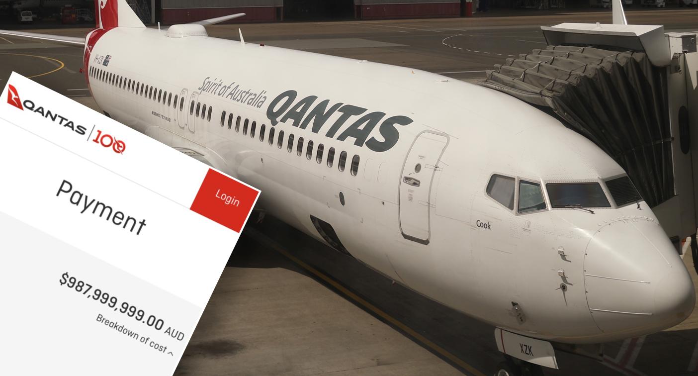 Qantas charges man $1 BILLION for extra leg room
