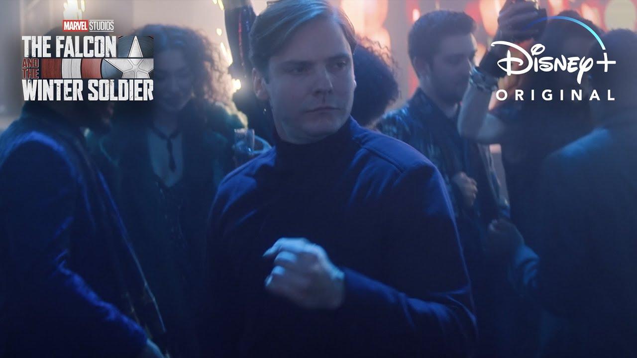 Marvel Falcon and Winter Soldier Baron Zemo dancing