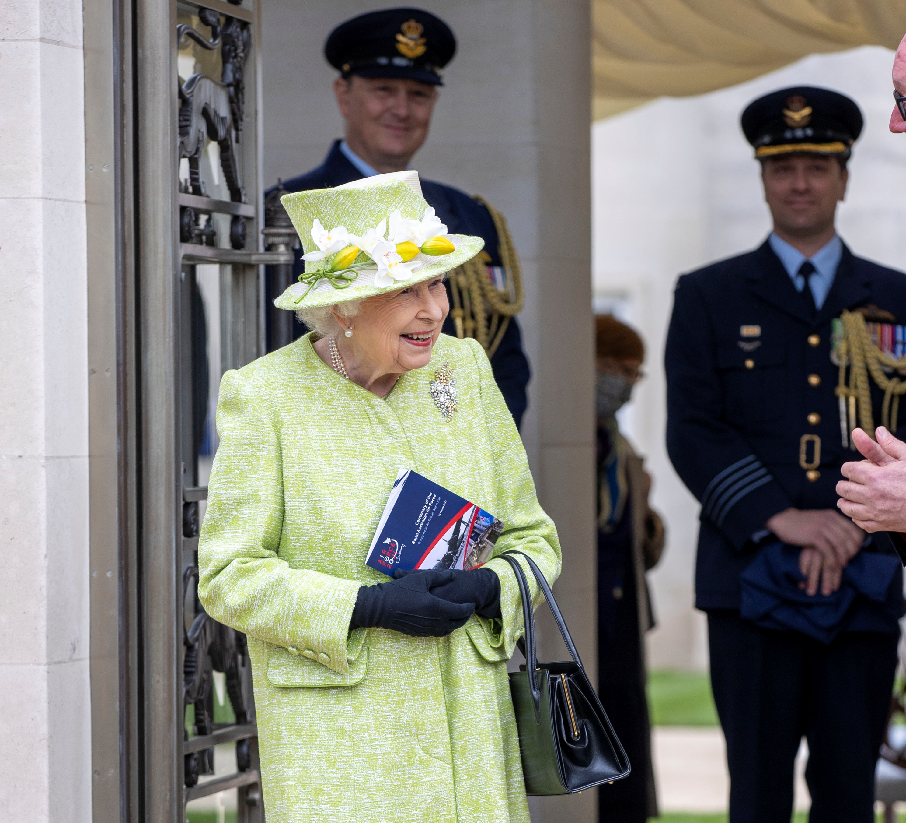 Britain's Queen Elizabeth II visits the Royal Australian Air Force Memorial, in Runnymede district, Britain March 31, 2021. Steve Reigate/Pool via REUTERS