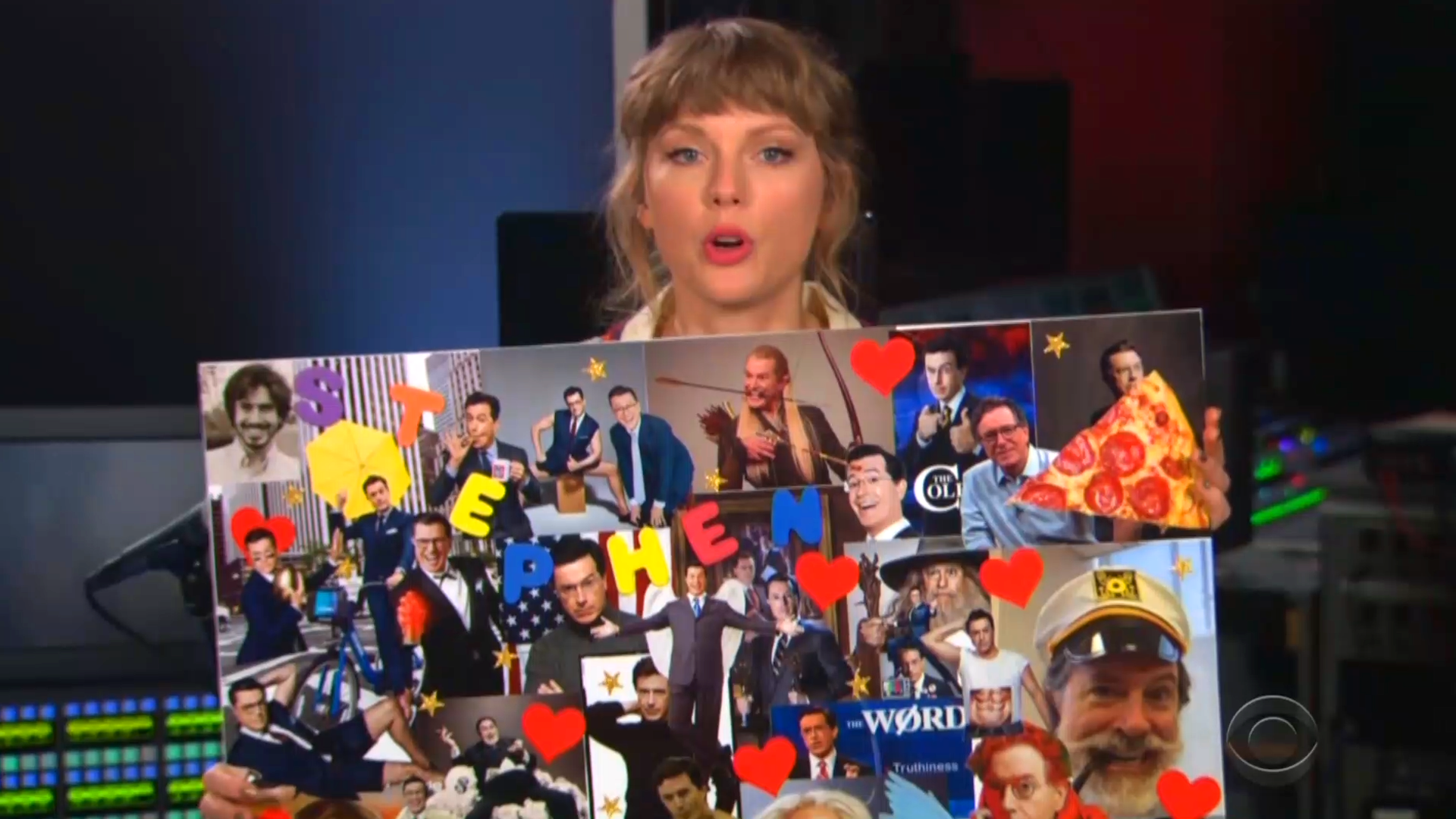 Taylor Swift's appearance on 'The Late Show With Stephen Colbert' has fans scrambling for answers – Yahoo Entertainment