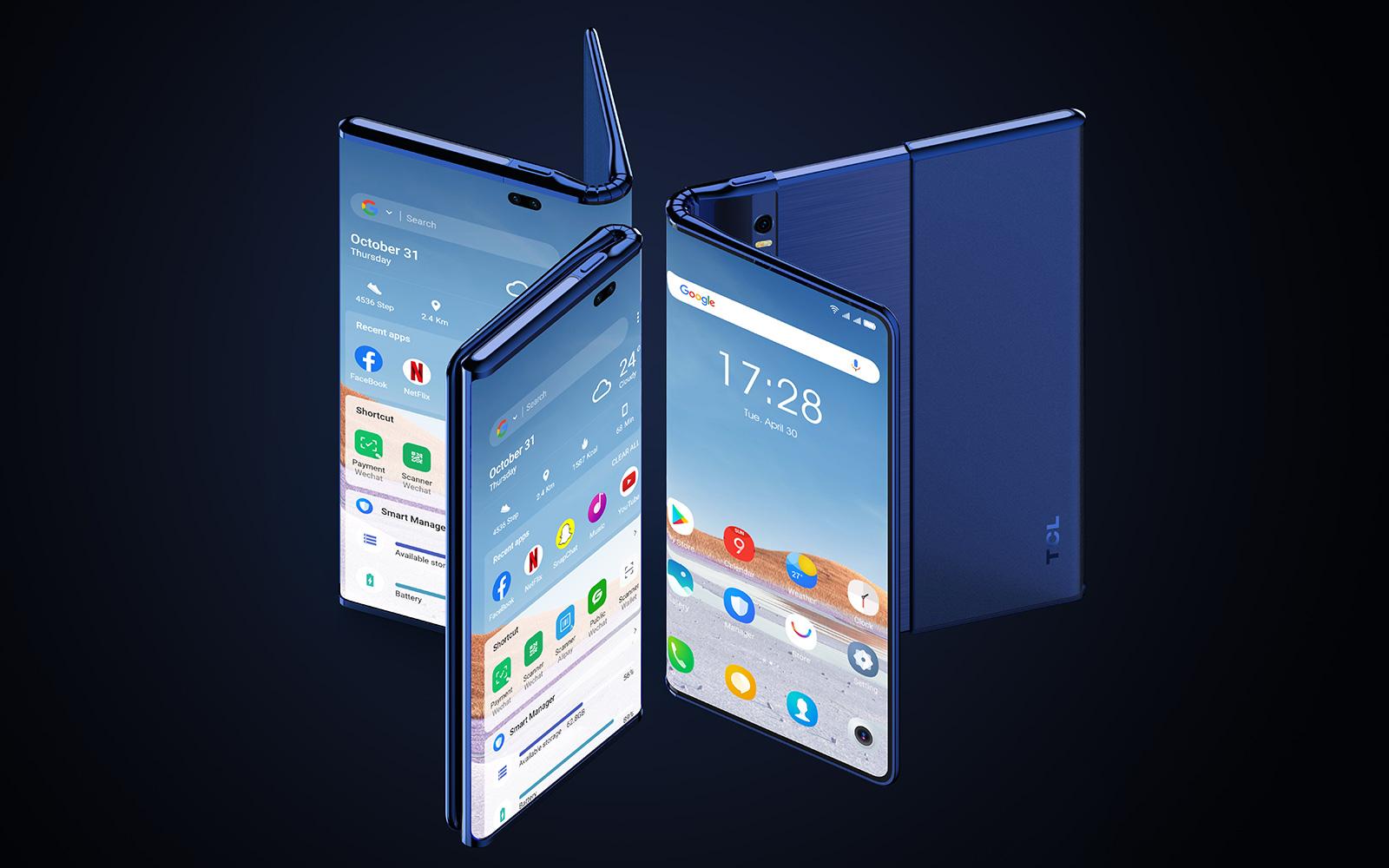 TCL Fold 'n' Roll 折疊兼捲軸螢幕概念手機
