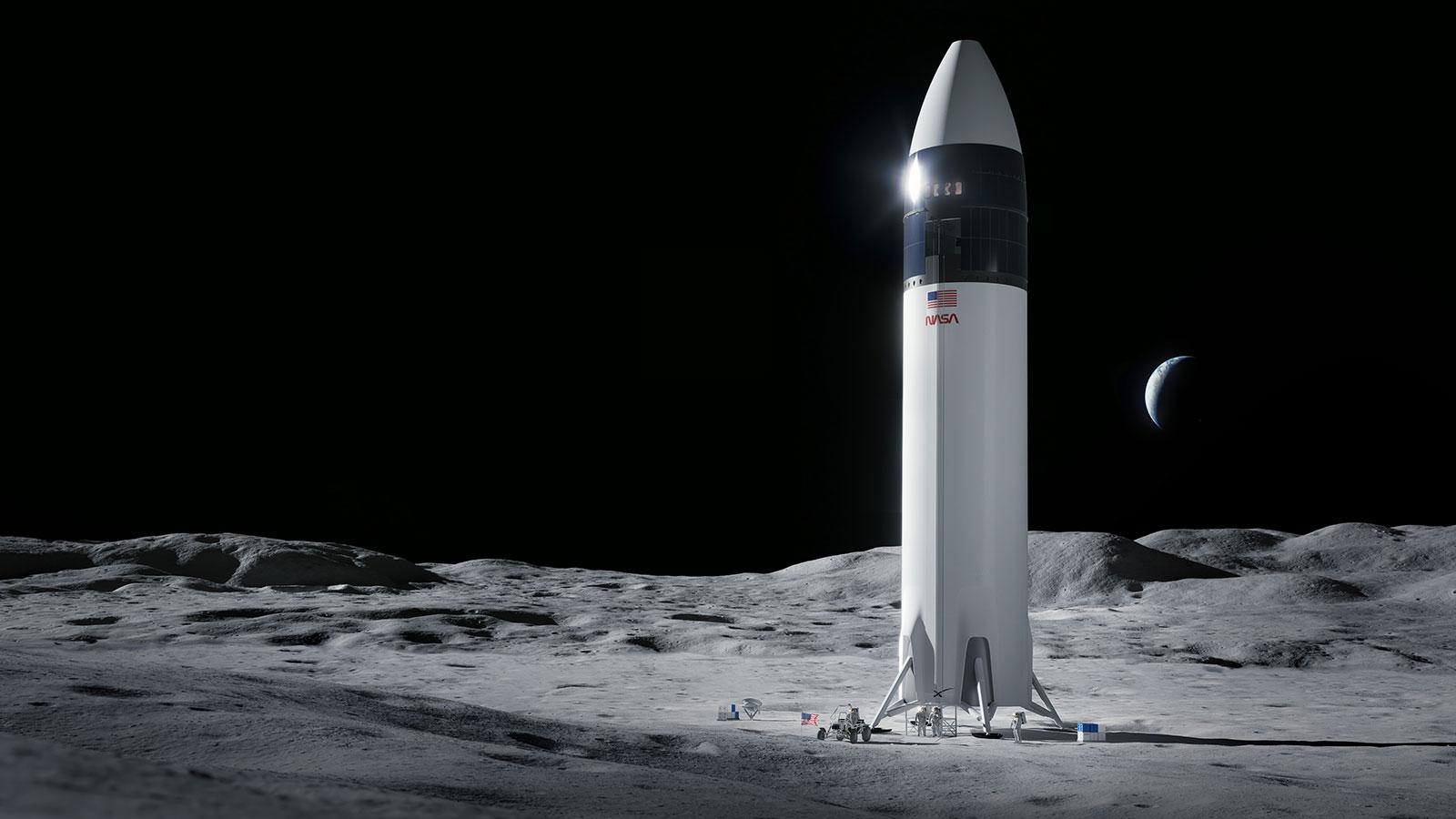 SpaceX wins NASA's Artemis lunar lander contract