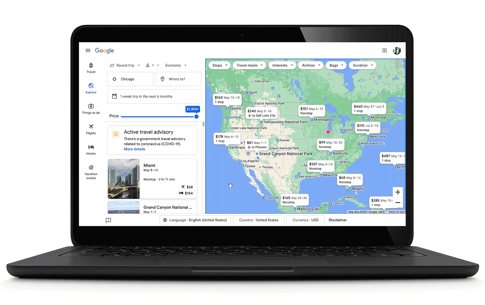 Google can now email you about COVID-19 travel advisory changes