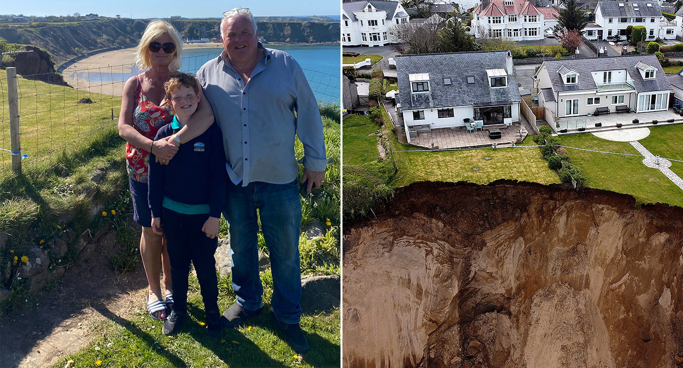 'We're devastated', say Welsh homeowners left on brink after huge cliff collapse