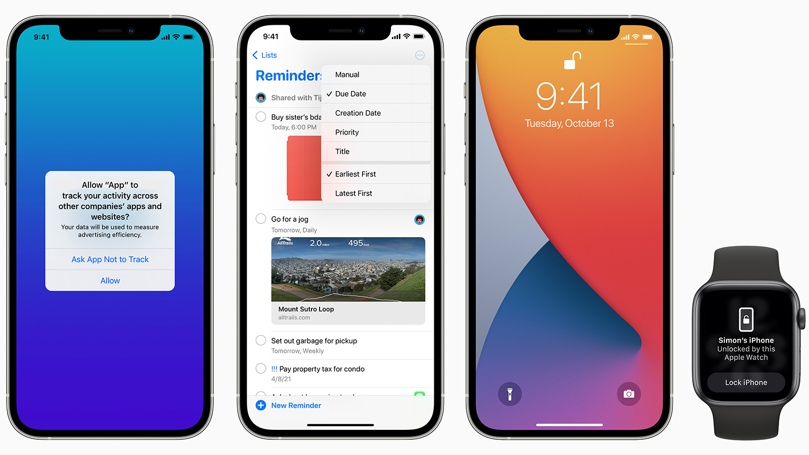 iOS 14.5 為 iPhone 帶來了令人興奮的全新功能,包括:戴著口罩時使用 Apple Watch 解鎖 iPhone、更多種 Siri 聲線、新的私隱控制、為情侶表情符號選取適合的膚色等等。