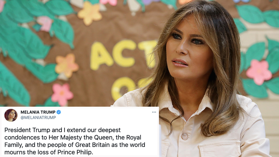 Melania Trump's Prince Philip tribute tweet causes fierce debate